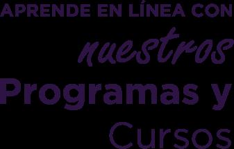 aprende en linea con nuestros cursos y programas