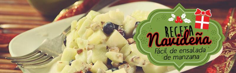 Receta navideña fácil de Ensalada de Manzana