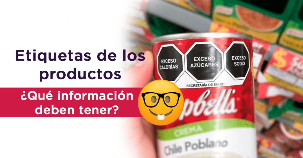 etiquetas de los productos