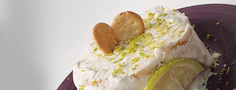 Close up carlota de limón saludable