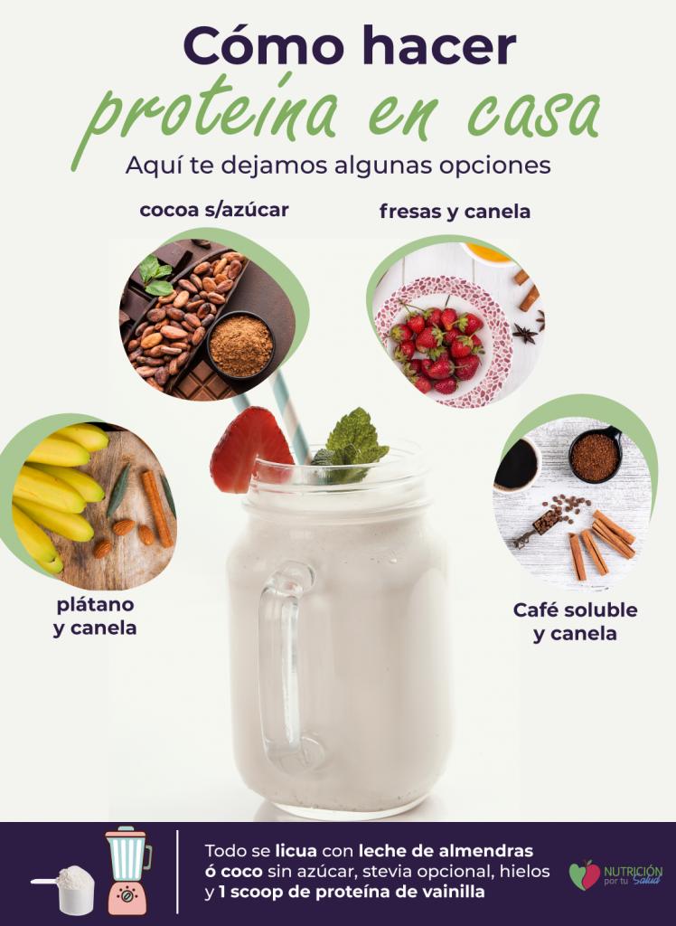 proteína en polvo vegana sencilla