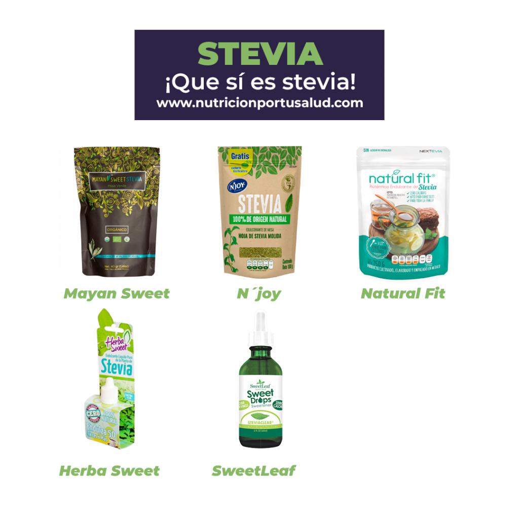 consumo de stevia en bebidas